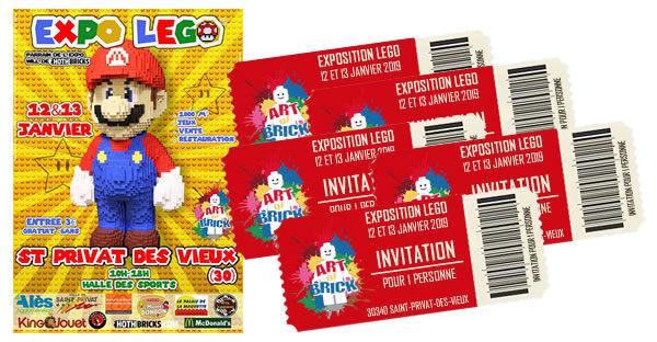 Concours : des entrées pour l'expo LEGO Art of Brick 2019 à gagner