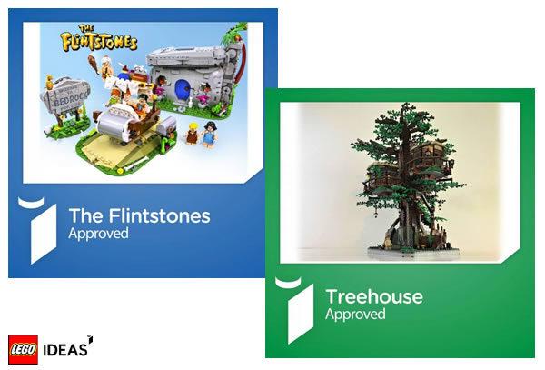 lego ideas 21361 flintstones 21317 treehouse
