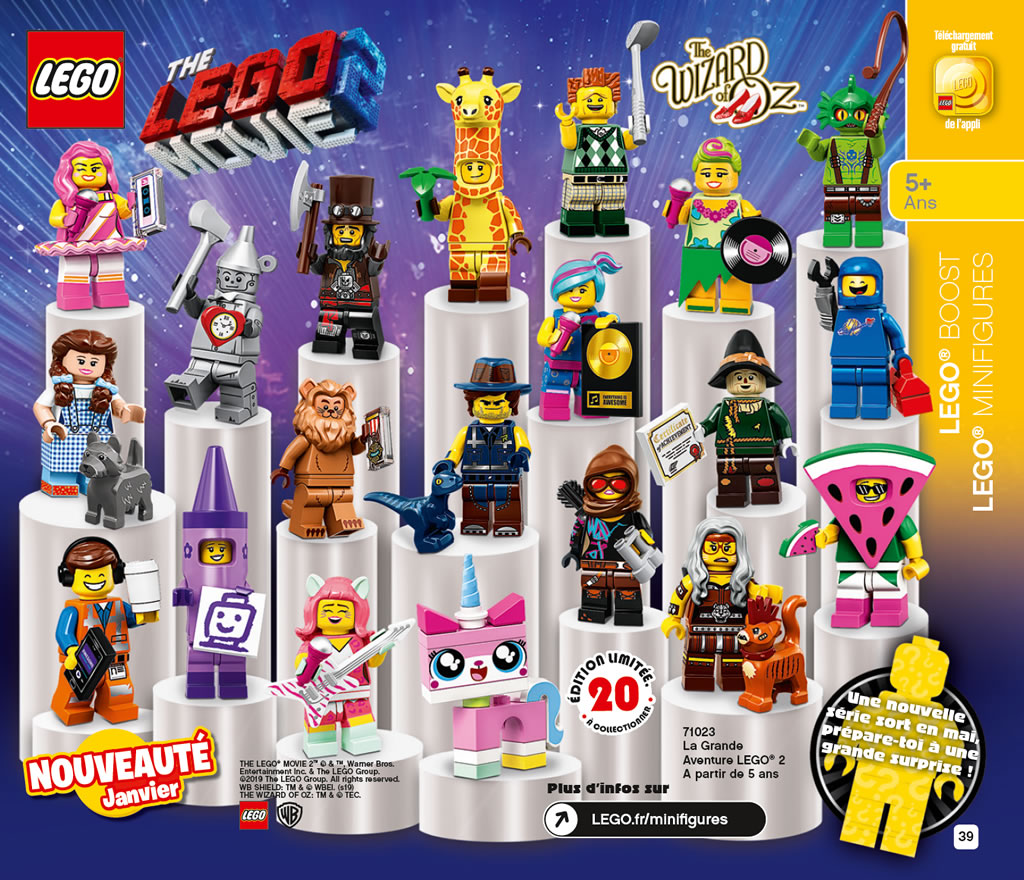 ▷ 71023 Minifigs à collectionner The LEGO Movie 2 : tous