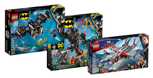 Sur le Shop LEGO : Les nouveautés DC Comics et Marvel sont disponibles