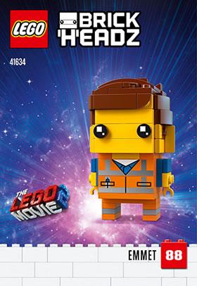 41634 emmet brickheadz lego movie 2019