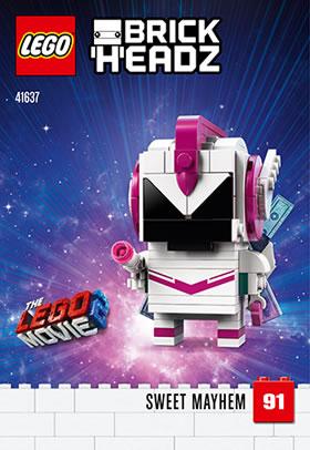 41637 sweet mayhem brickheads lego movie 2019