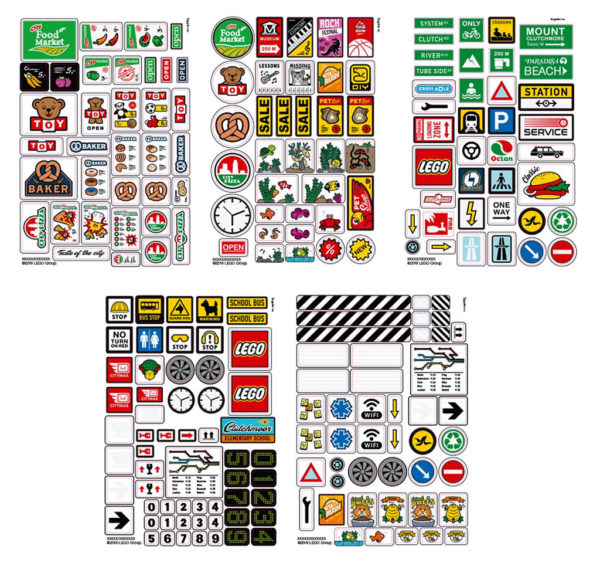853921 LEGO Brick Stickers