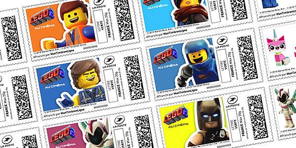 Avec La Poste : Imprimez vos timbres The LEGO Movie 2