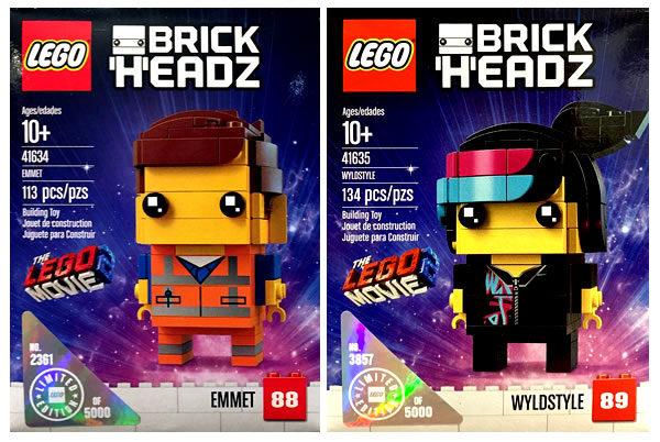 The LEGO Movie 2 BrickHeadz : Emmet (41634) & Wyldstyle (41635)