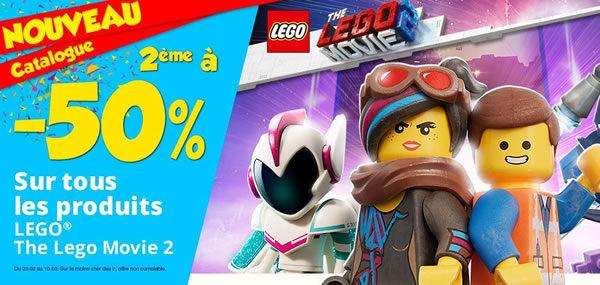 Chez Maxi Toys : -50% sur le 2ème produit  The LEGO Movie 2