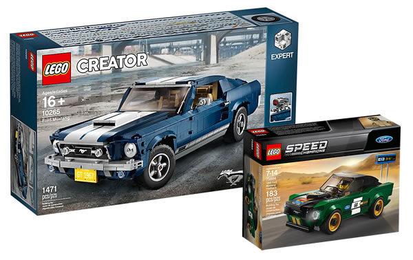 Sur le Shop LEGO : le set 75884 Ford Mustang Fastback 1968 offert pour l'achat de l'autre Ford Mustang