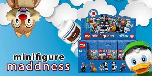 Chez Minifigure Maddness : La boite de 60 sachets LEGO Disney série 2 à nouveau disponible