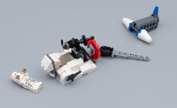 Plain Blue Lego minifigur Complètement bleue personnage presque comme neuf