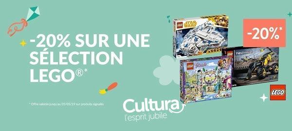 Chez Cultura : Produits LEGO offerts et réduction de 20% sur certaines références