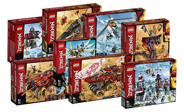 Nouveautés LEGO Ninjago du second semestre 2019 : les visuels officiels