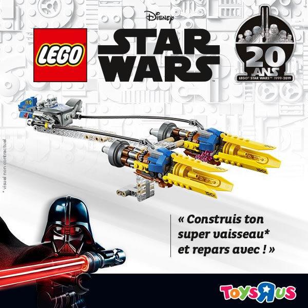Animation LEGO Star Wars chez Toys R Us : Un podracer offert (pas celui de la photo)
