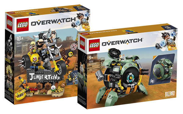 LEGO Overwatch 75976 Wrecking Ball & 75977 Junkrat & Roadhog