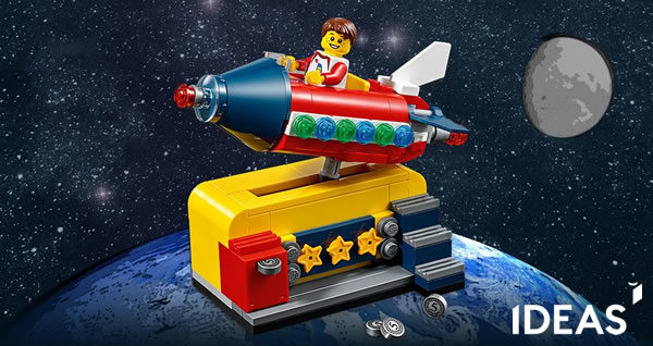 Sur le Shop LEGO : LEGO Ideas 40335 Space Rocket Ride offert dès 85 € d'achat (Round #2)