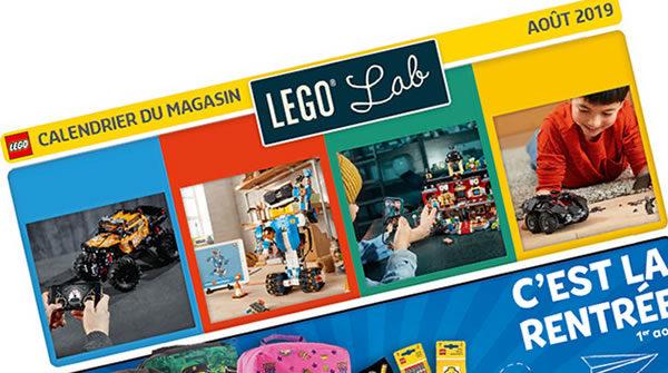 LEGO Store Calendar - Août 2019