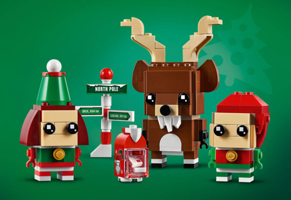 Nouveauté LEGO BrickHeadz 2019 : 40353 Reindeer, Elf & Elfie