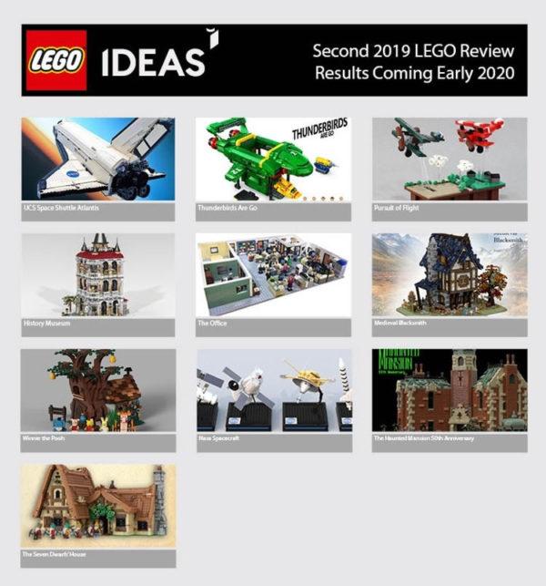 LEGO Ideas : Dix projets qualifiés pour la prochaine phase d'évaluation