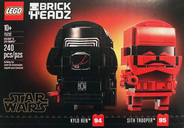 Nouveauté BrickHeadz 2019 : LEGO Star Wars 75232 Kylo Ren & Sith Trooper