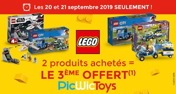 Chez PicwicToys : 2 produits LEGO achetés, le 3ème offert