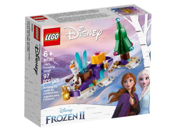 Sur le Shop LEGO : Le set Frozen II 40361 Olaf's Traveling Sleigh offert