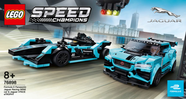 LEGO Speed Champions 2020 : 76898 Formula E Panasonic Jaguar Racing GEN2 Car & Jaguar I-PACE eTROPHY