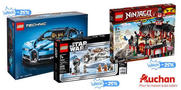 Chez Auchan : 25% d'économies sur une sélection de produits LEGO