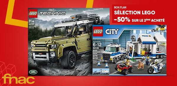 Sur Fnac.com : 50% de réduction immédiate sur le 2ème produit LEGO acheté