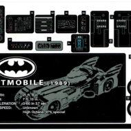 76139 lego batman 1989 batmobile sticker sheet