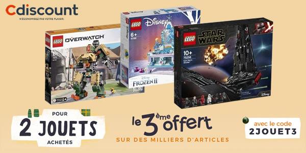 Chez Cdiscount : 2 produits LEGO achetés, le 3ème offert