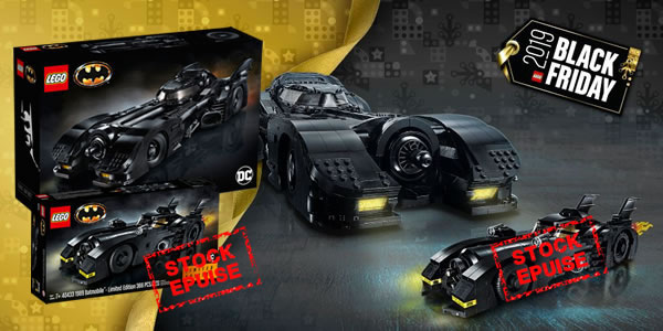 Black Friday 2019 chez LEGO : le set 76139 1989 Batmobile est disponible