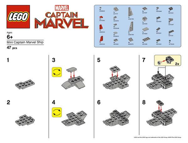 LEGO Mini Captain Marvel Ship (Version 2)