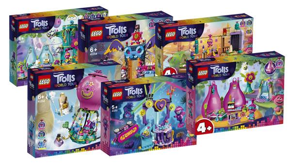 LEGO Trolls World Tour : les visuels officiels des sets prévus