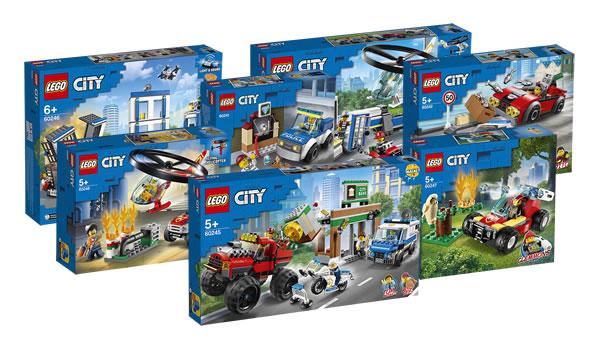 Nouveautés LEGO CITY 2020 : les visuels officiels des sets police et pompiers