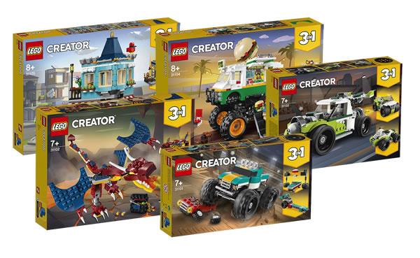 Nouveautés LEGO Creator 2020 : les visuels officiels