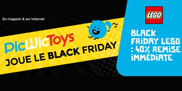 Chez PicWicToys : 40% de réduction sur une sélection de sets LEGO