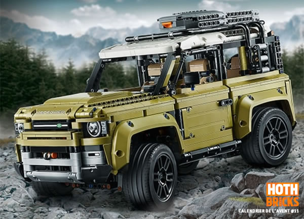 Calendrier de l'Avent #11 : Un set LEGO Technic 42110 Land Rover Defender à gagner !