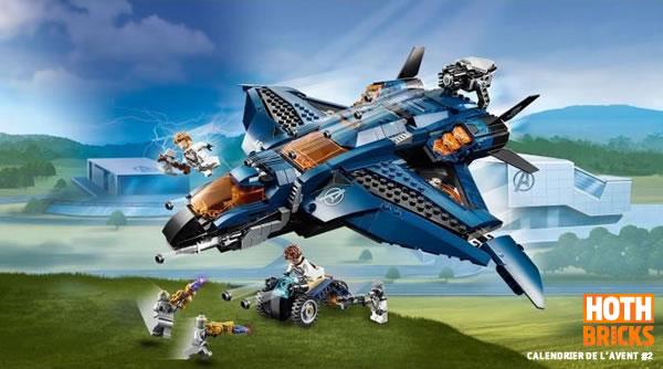 Calendrier de l'Avent #2 : Un set LEGO Marvel 76126 Avengers Ultimate Quinjet à gagner !