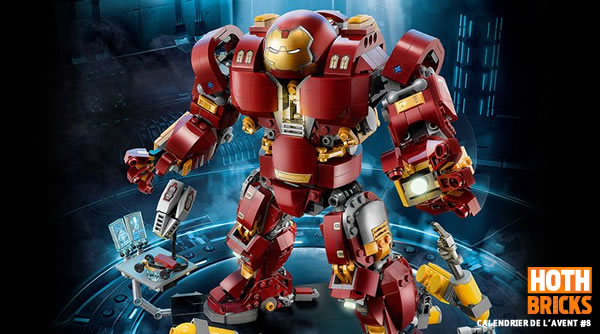 Calendrier de l'Avent #8 : Un set LEGO Marvel 76105 The Hulkbuster Ultron Edition à gagner !