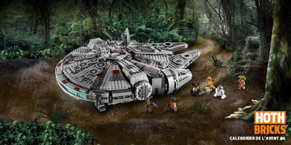 Calendrier de l'Avent #4 : Un set LEGO Star Wars 75257 Millennium Falcon à gagner !
