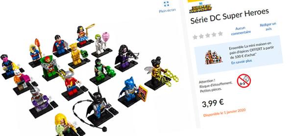 LEGO 71026 DC Comics Collectible Minifigures Series : pas d'augmentation du prix du sachet en France