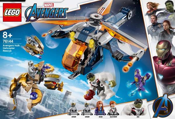 Chez LEGO : Le set 76144 Avengers Hulk Helicopter Rescue est disponible