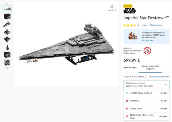 Sur le Shop LEGO : vérifiez la disponibilité d'un produit dans un Store près de chez vous