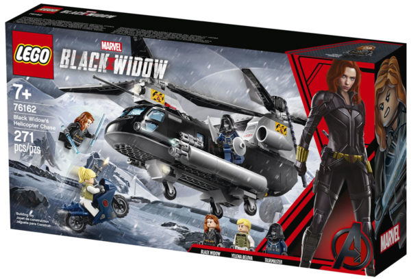 76162 Black Widow's Helicopter Chase