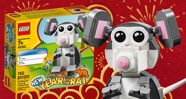 Sur le Shop LEGO : Le set 40355 Year of the Rat offert dès 80 € d'achat