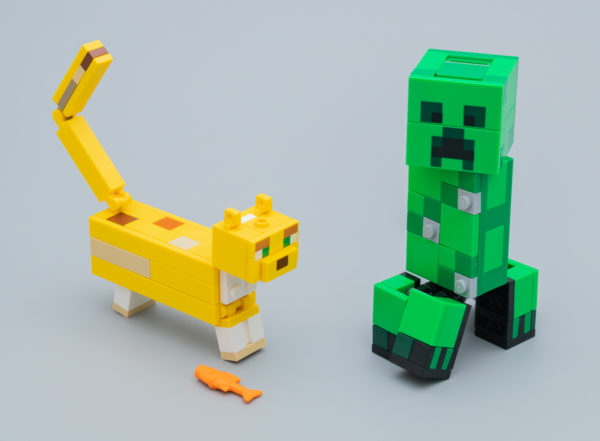 Très vite testé : LEGO Minecraft 21156 BigFig Creeper and Ocelot