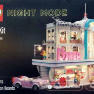 lego light kit night mode downtown diner