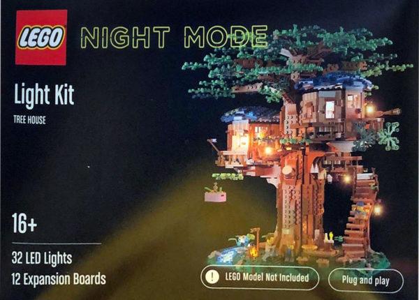 lego light kit night mode tree house 1