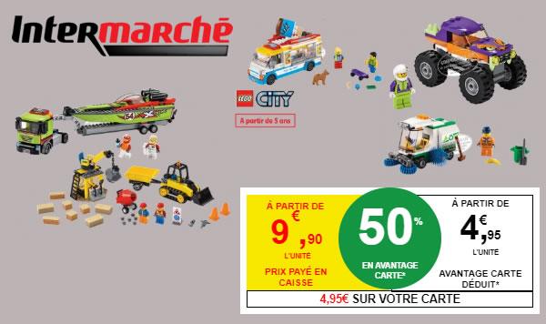 Chez Intermarché : 50% en avantage carte sur une sélection de sets LEGO