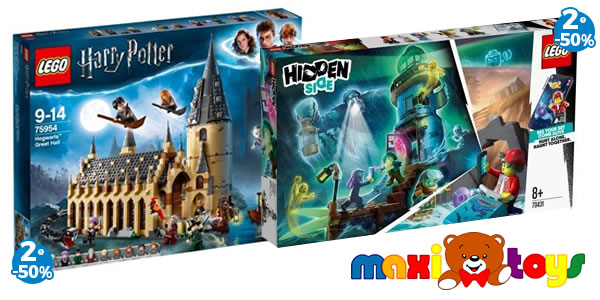 Chez Maxi Toys : 50% de réduction sur le 2ème set LEGO Harry Potter ou Hidden Side