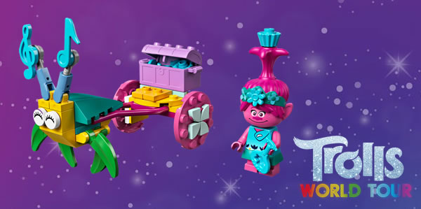 Sur le Shop LEGO : Polybag LEGO Trolls 30555 Poppy's Carriage offert dès 30 € d'achat